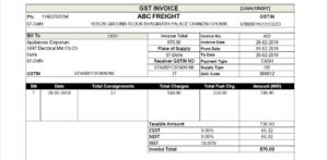 Courier Software | Courier management Software | Courier GST Invoice format