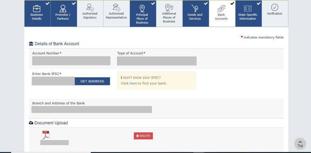 Good Services Tax online register Service